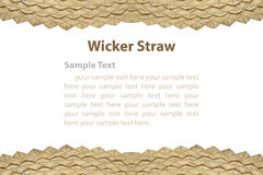 Border of wicker straw. Stock Photography