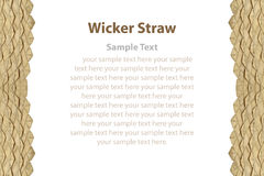 Border of wicker straw. Stock Image