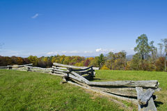Border. Wooden fence off the Blue Ridge Parkway Royalty Free Stock Images
