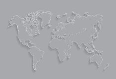 Border Worlds map  Illustration Royalty Free Stock Photography
