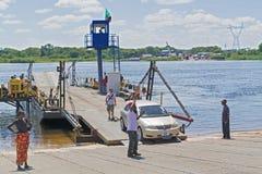 Border on Zambezi river Stock Image