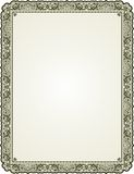 Bordered floral frame. Vintage floral frame with empty space for text or picture Royalty Free Stock Image