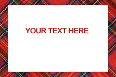 Bordered frame with Tartan type Scottish designs and text to wri Stock Photo
