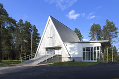 Borderland church. A small borderland church in eastern Finland stock photography