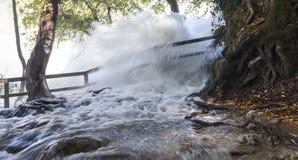Borderless flood in Croatia near the lakes. Giant flood in Croatia near the famous lakes royalty free stock photos