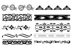 Borders. Collection of decorative borders in black Stock Photo