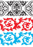 Borders. Decorative background and border items Stock Photos