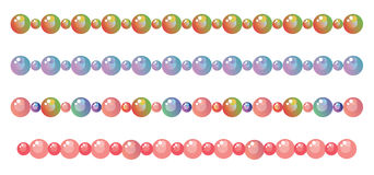 Borders from beads. Decorative vector borders from beads Stock Images
