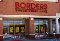 Borders Closing. PLANO - APR 5: Taken in Plano, Texas April 5, 2011. Borders Books recently announced the closing of its stores. Event related link - http://s Royalty Free Stock Photo
