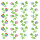 Borders  clover Royalty Free Stock Images