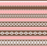 Borders. Collection design elements for scrapbook. Stock Images