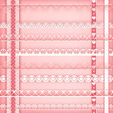 Borders collection pink Stock Photography