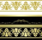 borders dekorativa blom- modeller Arkivfoto