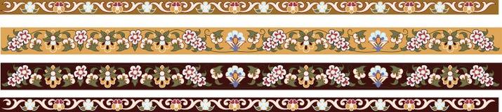 borders dekorativt blom- stock illustrationer