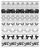 borders den blom- setvektorn för element vektor illustrationer