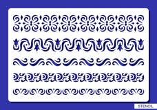 borders den dekorativa seten vektor illustrationer