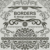 Borders and design Elements -  set. Stock Photography