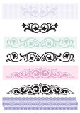Borders - Design elements vector Stock Photography