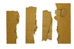 Borders edges corrugated cardboard Royalty Free Stock Photography