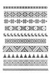 Borders, embroidery. Set of borders, embroidery cross, vector illustration Stock Images