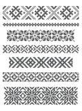 Borders, embroidery Stock Photo