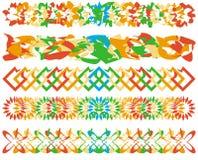 borders färgrik serie stock illustrationer