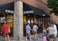 Borders flagship store liquidation sale Royalty Free Stock Images