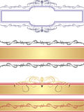 Borders and frames. For decor. Illustration Stock Image