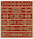 Borders and frames in celtic style Stock Image