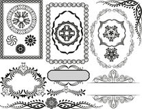 Borders and frames. Set of decorative borders, frames and ornaments Stock Image