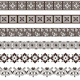 Borders and friezes. Borders and friezes on white background Stock Photography