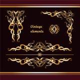 Borders gold Royalty Free Stock Photo