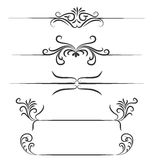 Borders hand drawn element vector design.  Royalty Free Stock Photography