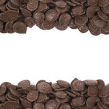 Borders made of chocolate chips Royalty Free Stock Photos