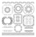 Borders and ornaments. Vector set - borders, frames and ornaments Royalty Free Stock Photos