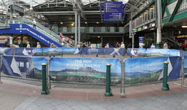Borders Railway adverts Waverley Station Royalty Free Stock Photos