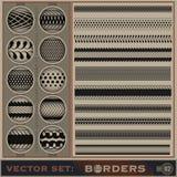 Borders_set_2 Vektor Illustrationer