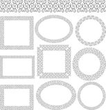 Borders. Set of isolated decorative borders Royalty Free Stock Photography