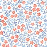 Borders Simple Pattern With Flowers Sakura Digital Imprint Fantas Royalty Free Stock Photography