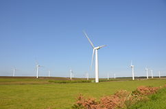 Borders Windfarm. A wind farm development in a rural area in the Scottish Borders Royalty Free Stock Image