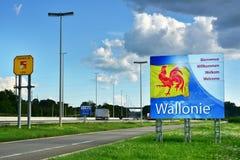 Bordersign of Wallonie Stock Photo