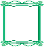 Bordes abstractos verdes Lizenzfreie Stockfotos