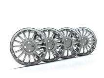 Bordes de la aleación de aluminio, bordes del coche. Fotos de archivo libres de regalías