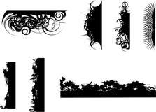 Bordes del marco del vector Fotografía de archivo