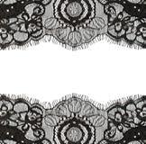 Bordes negros del cordón Foto de archivo
