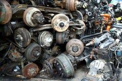 Bordes usados y de sobra del neumático imagen de archivo