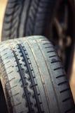 Bordes y neumático mojados de los deportes Fotos de archivo