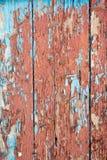Bordi con i vecchi chip della pittura Fotografie Stock Libere da Diritti