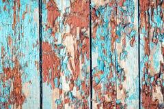 Bordi con i vecchi chip della pittura Fotografie Stock