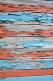Bordi coperti di vecchia pittura Fotografia Stock